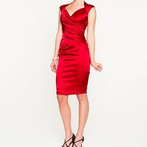 🌟3 for $15🌟 NWOT Le Chateau red satin dress